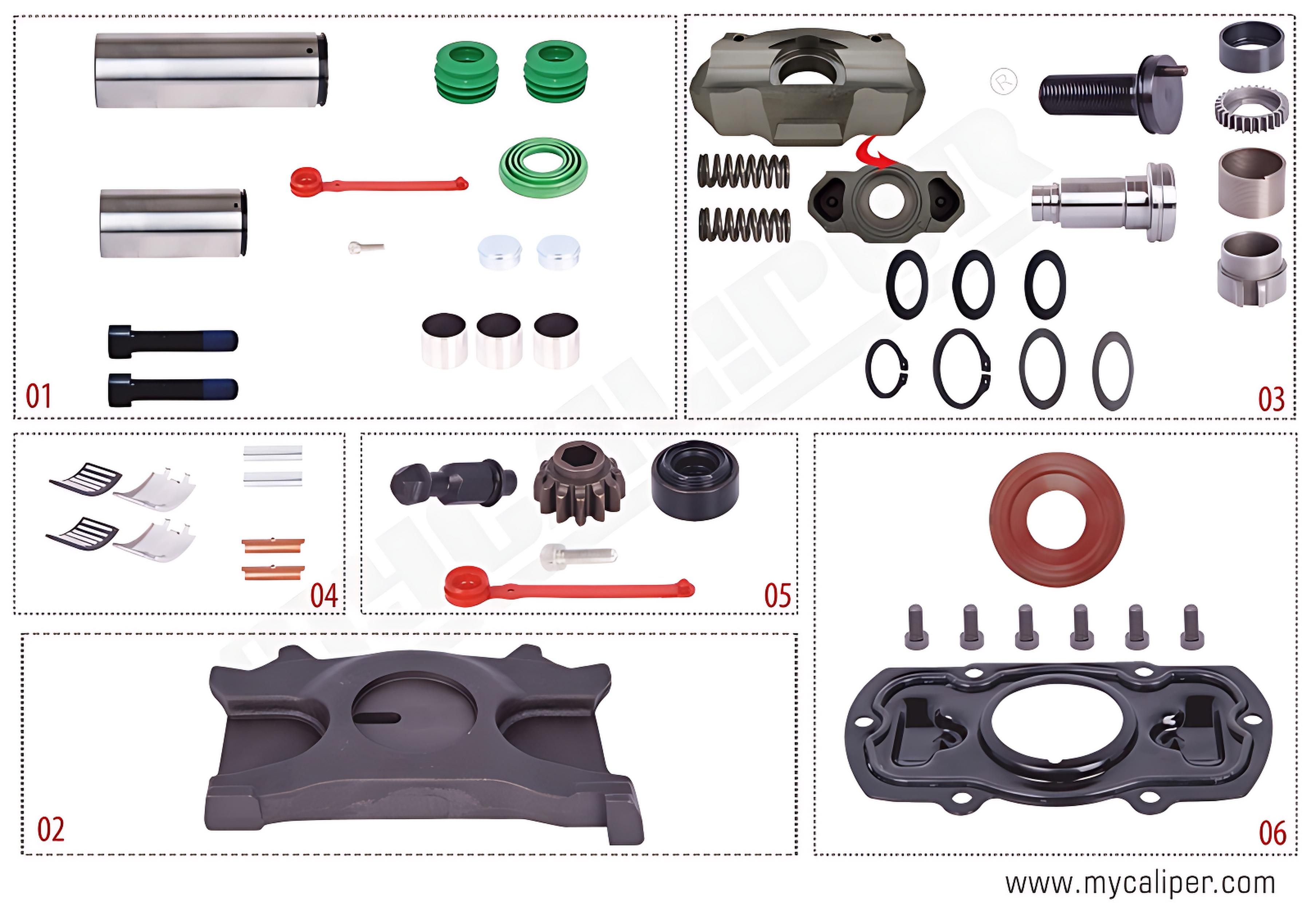 Caliper Repair Kit Complete For Renault -Right