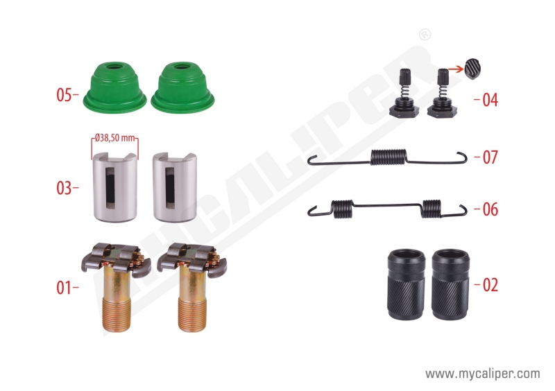 Brake Adjusting Repair Kit (Thin Teeth)