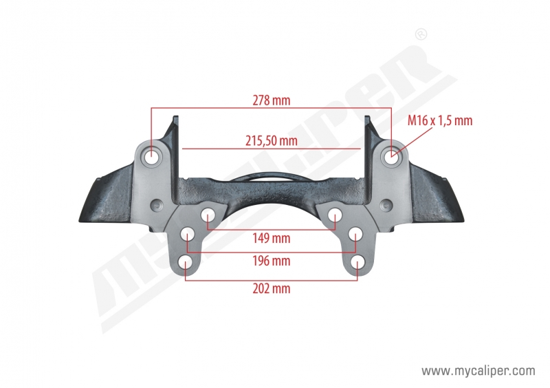 Caliper Carrier For Schmitz Trailer