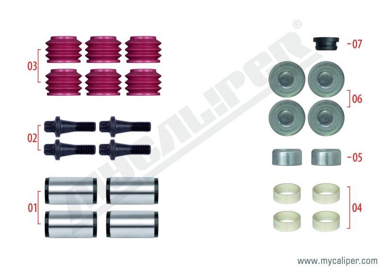 Caliper Guide & Seals Repair Kit 91012
