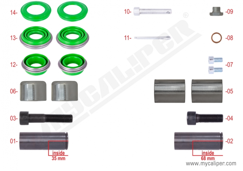Caliper Overhaul Repair Kit  MERITOR: MCK1172
