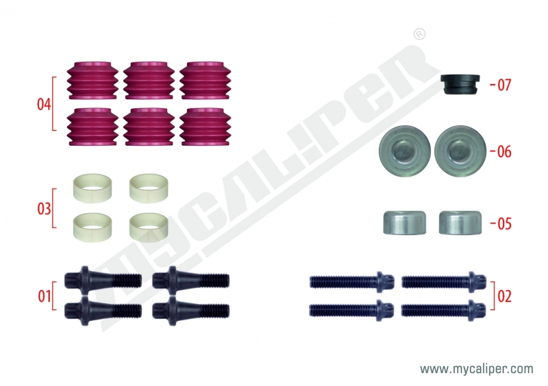 Caliper Pin Bolt Repair Kit