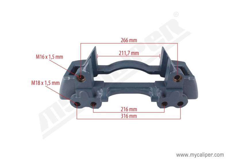 Knorr Caliper Carrier (For Saf Trailer)