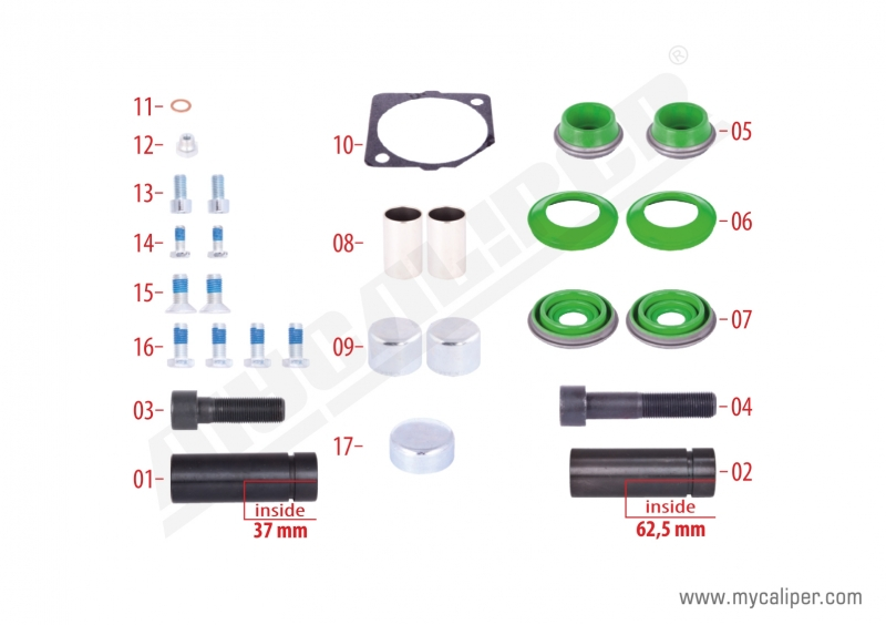 Caliper Overhaul Repair Kit