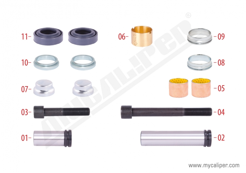 Caliper Guides & Seals Repair Kit