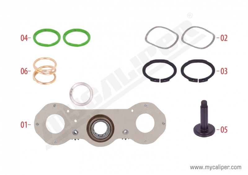 Caliper Adjusting Mechanism Repair Kit (Left)