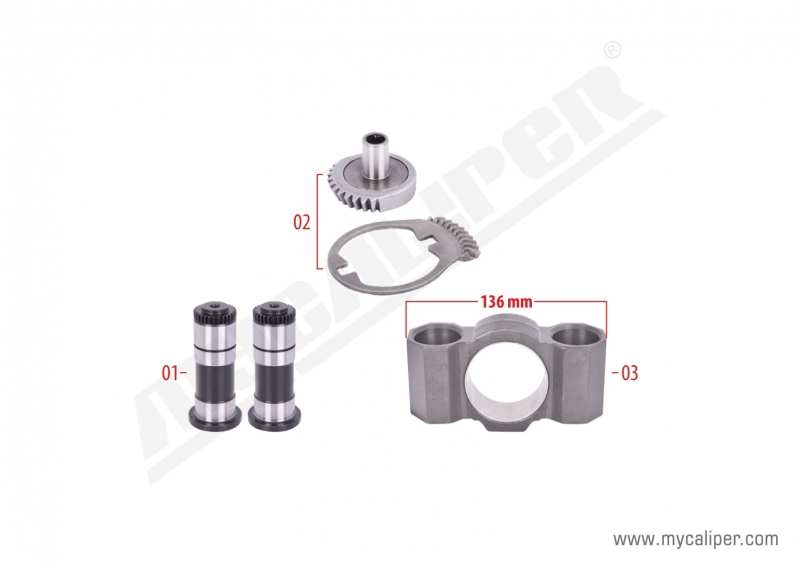 Caliper Gear & Bridge Assembly Kit (Left)
