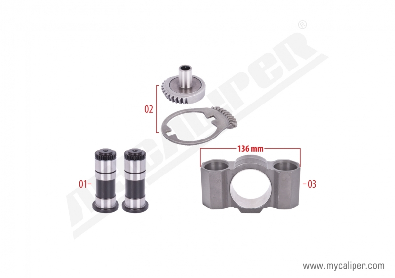 Caliper Gear & Bridge Assembly Kit (Right)